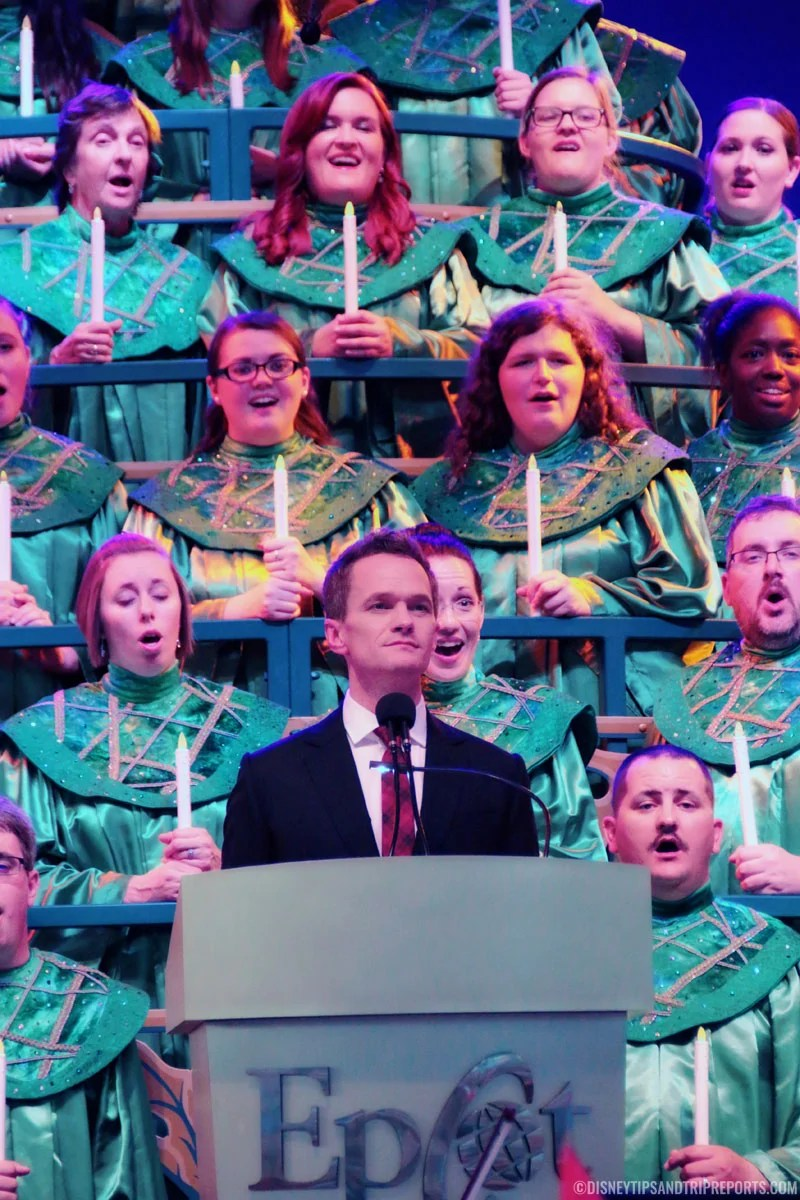 Neil Patrick Harris - Candlelight Processional at Epcot
