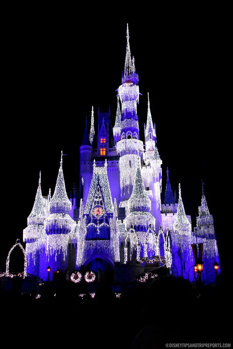 Cinderella Castle with Ice Lights