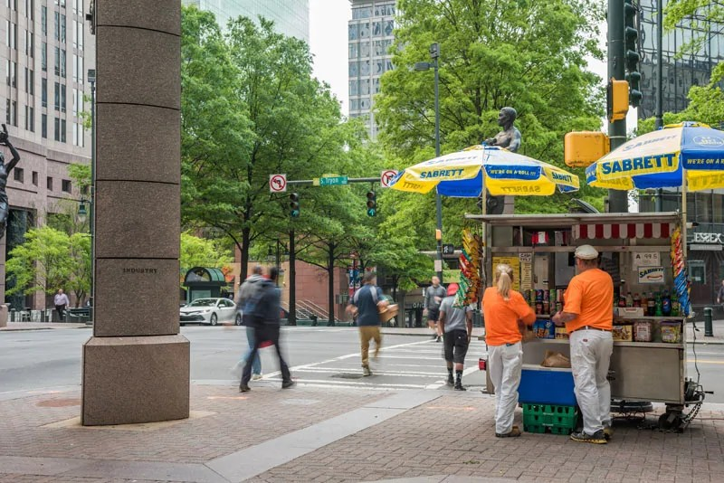 Uptown Charlotte Hot Dog Stand