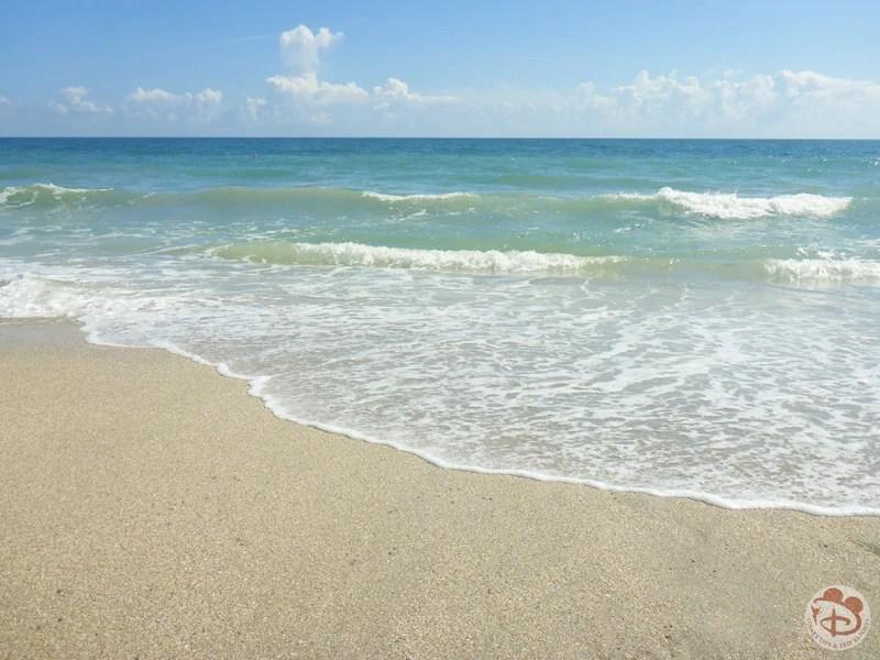Ocean washing on the shore at Vero Beach