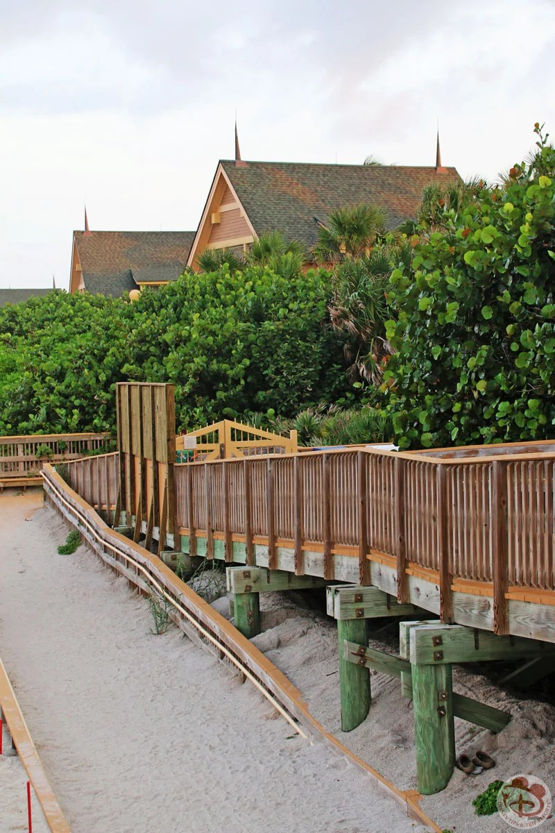 Walkway to Disney's Vero Beach Resort private beach