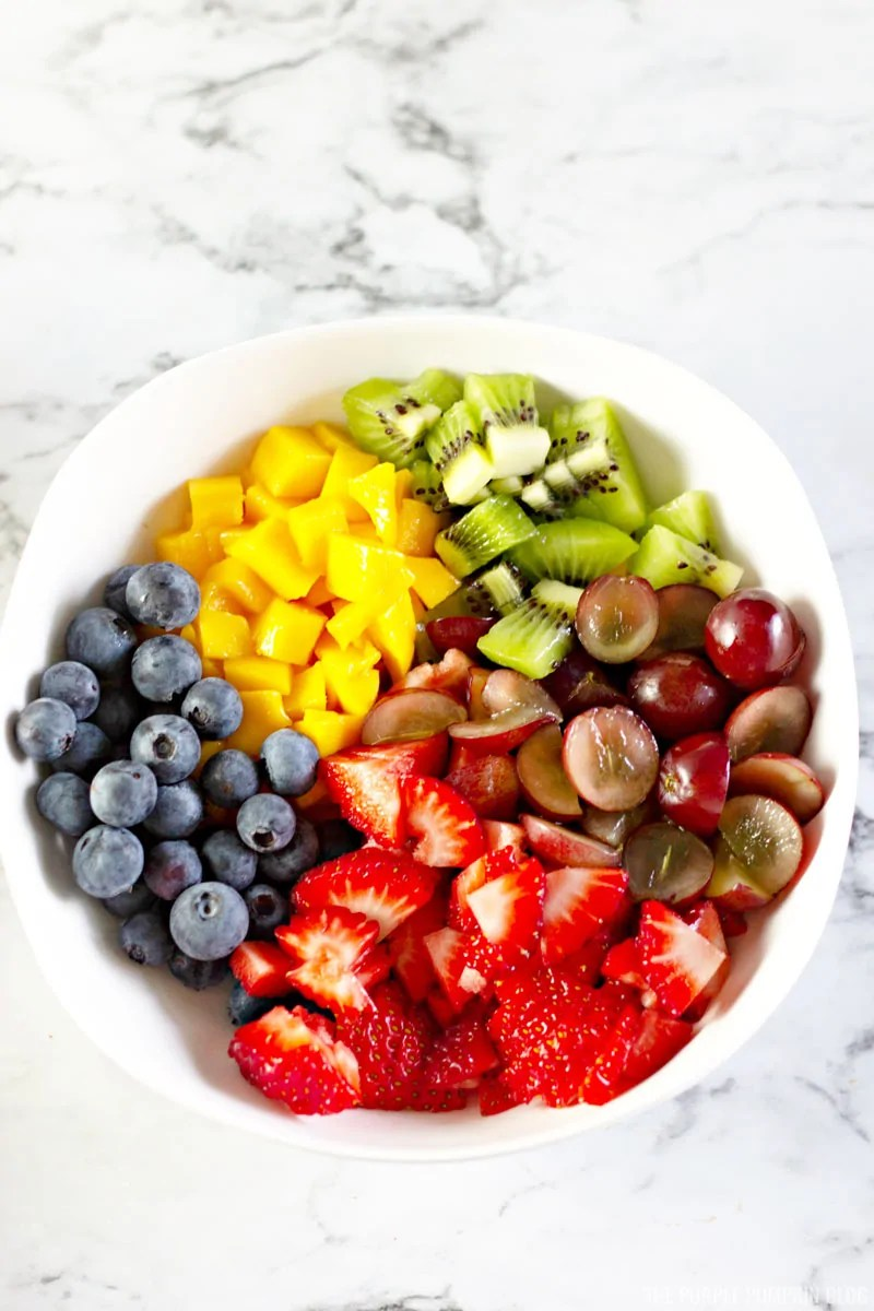 Chopped Blueberries, Strawberries, Grapes, Mango, Kiwi