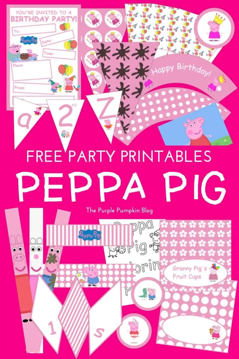 peppa pig party printables fun party