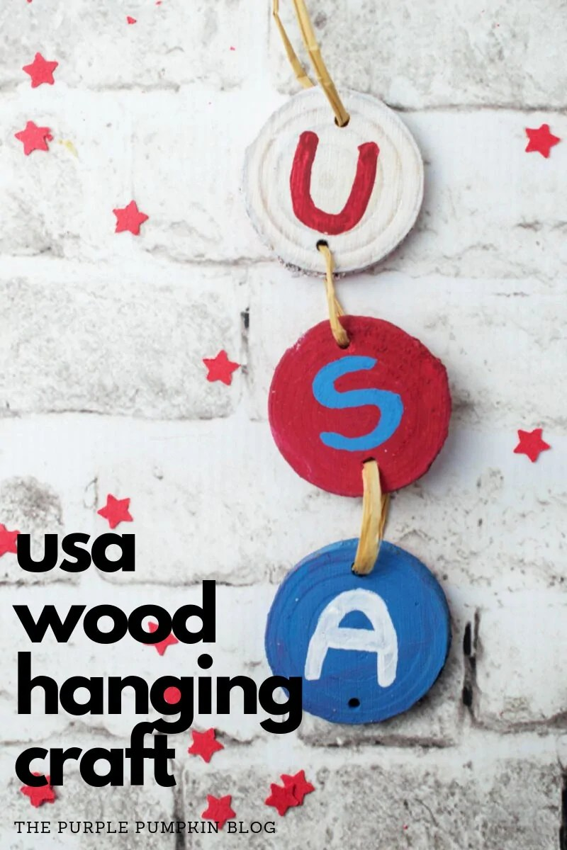 USA Wooden hanging sign