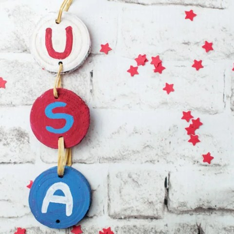 USA Wooden Sign