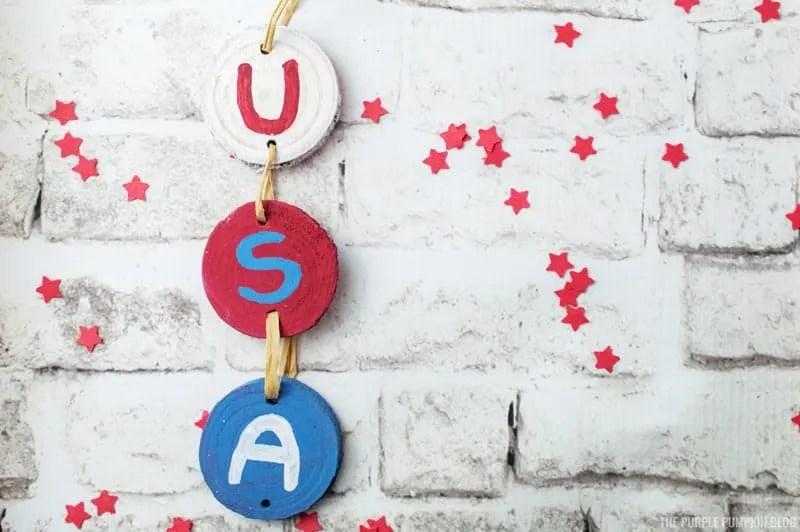 USA Wooden Sign Craft