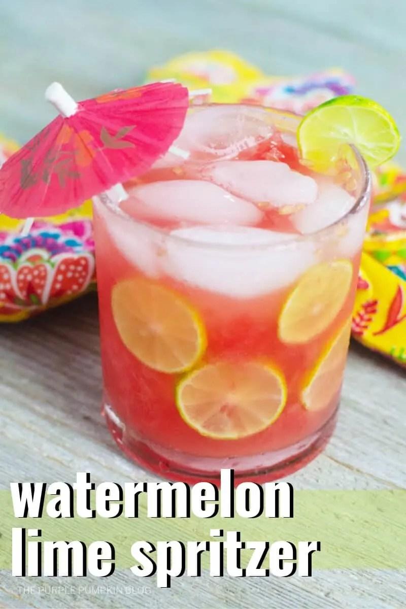 Watermelon lime spritzer