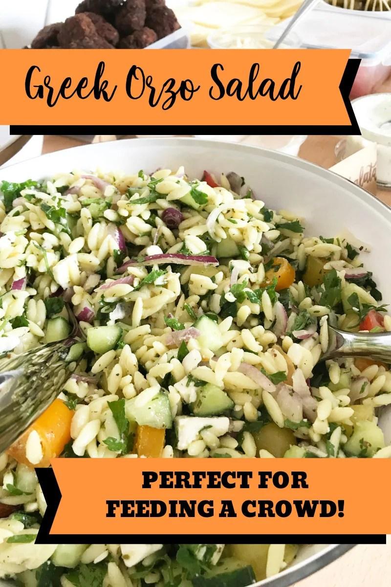 Greek Orzo Salad - Prefect for feeding a crowd