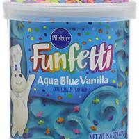 Pillsbury Aqua Blue Vanilla Funfetti Frosting