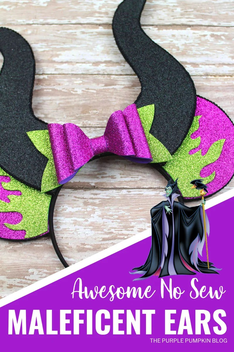 How To Make Maleficent Ears No Sew Mickey Ears Disney