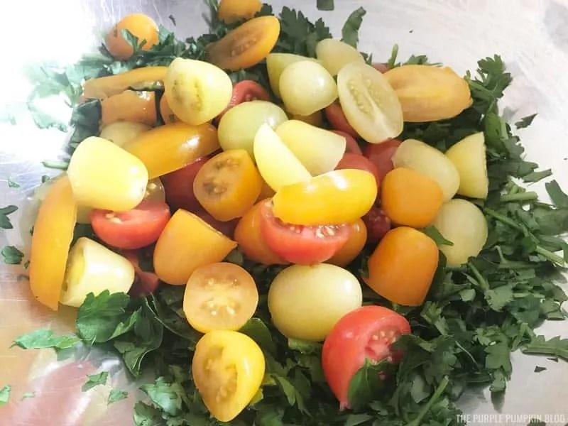 Chopped grape tomatoes
