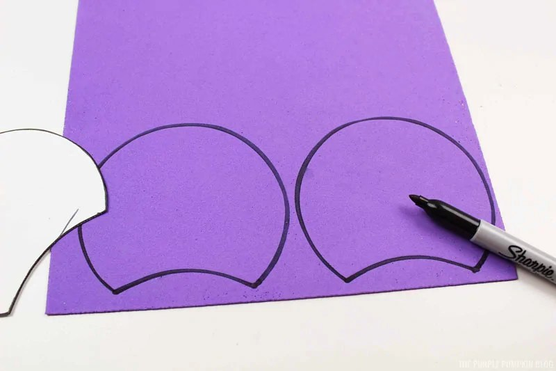 Cutting Purple Ear Pieces