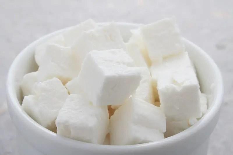 cubes of feta