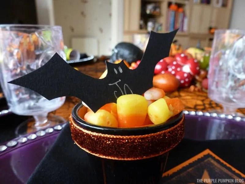 Halloween Bat Place Settings