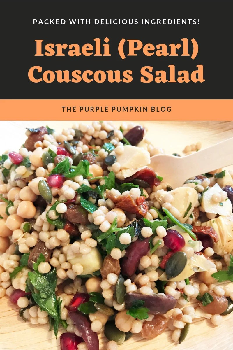 Packed with delicious ingredients - Israeli (pearl) couscous salad