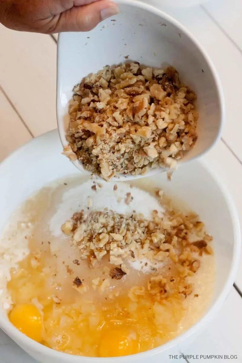 add chopped walnuts to Hawaiian cake mix