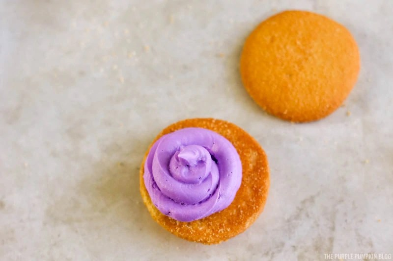 Nilla Wafer and Purple Frosting