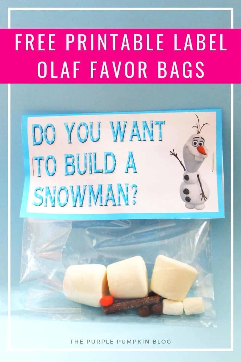 Olaf Party Favor Bag
