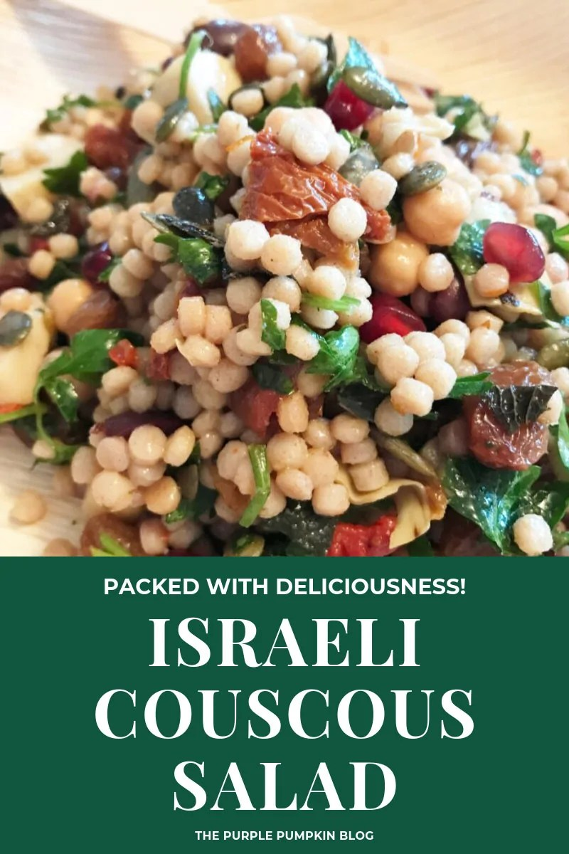 A plate of Israeli Couscous Salad