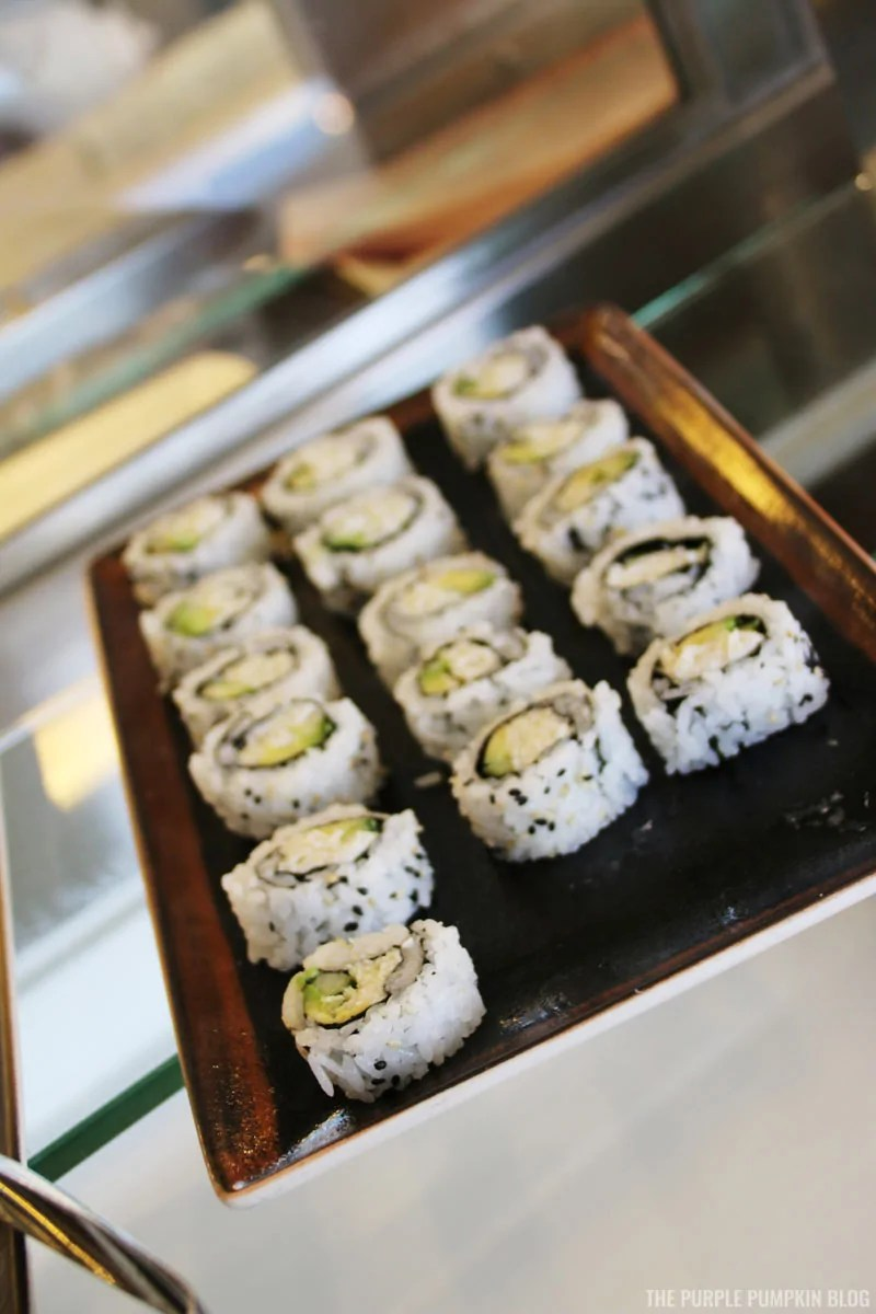 California rolls with jumbo lump crab meat