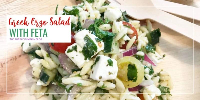 Greek orzo salad with feta