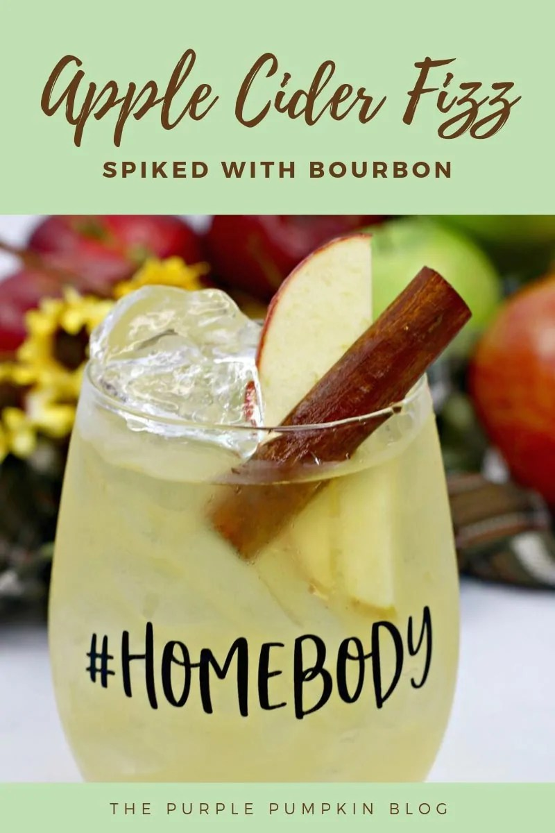 Apple cider fizz spiked with bourbon