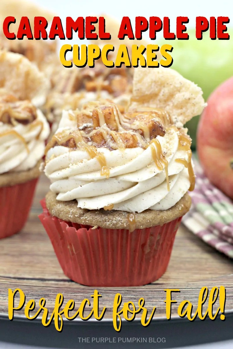 Caramel Apple Pie Cupcakes - Perfect for Fall!