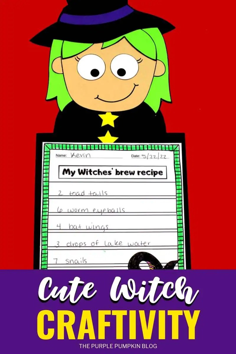 Cute Witch Craftivity