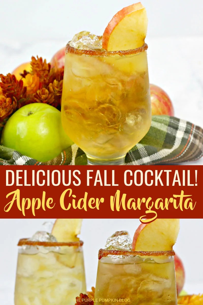 Delicious fall cocktail - apple cider margarita