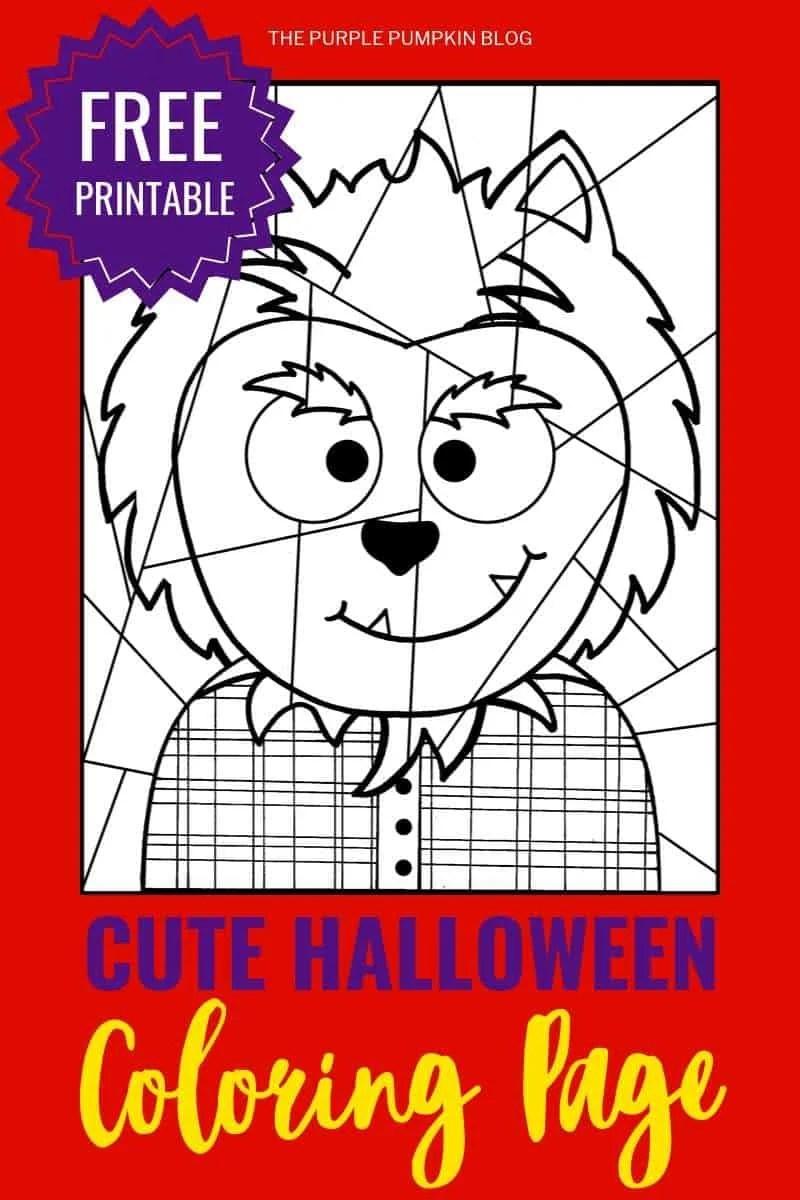 Free Printable Werewolf Coloring Sheet - A Fun Halloween ...