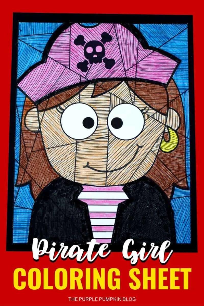 Free Printable Girl Pirate Coloring Sheet