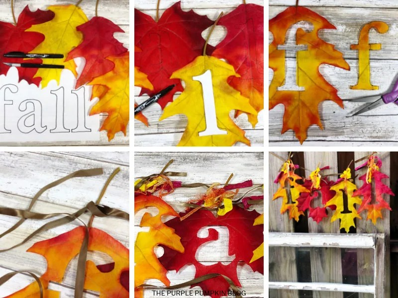 step by step photos of leaf banner craft