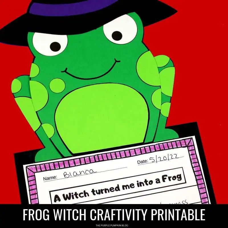Frog witch printable craftivity