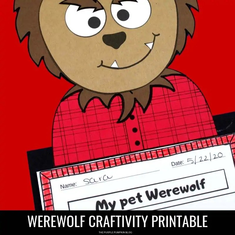 werewolf printable craftivity