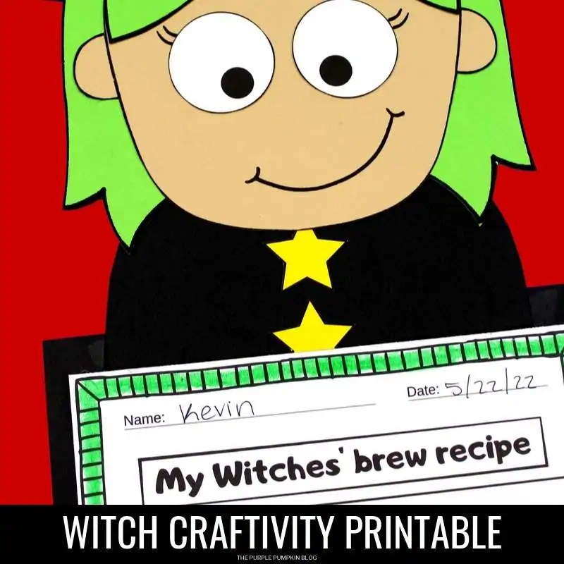 Witch printable craftivity