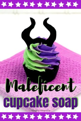 Maleficent Cupcake Soap
