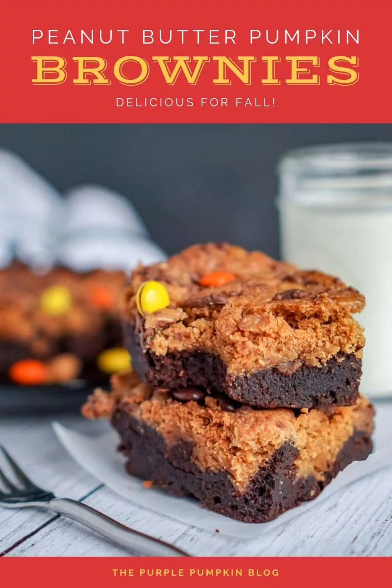 peanut butter pumpkin brownies delicious for fall!