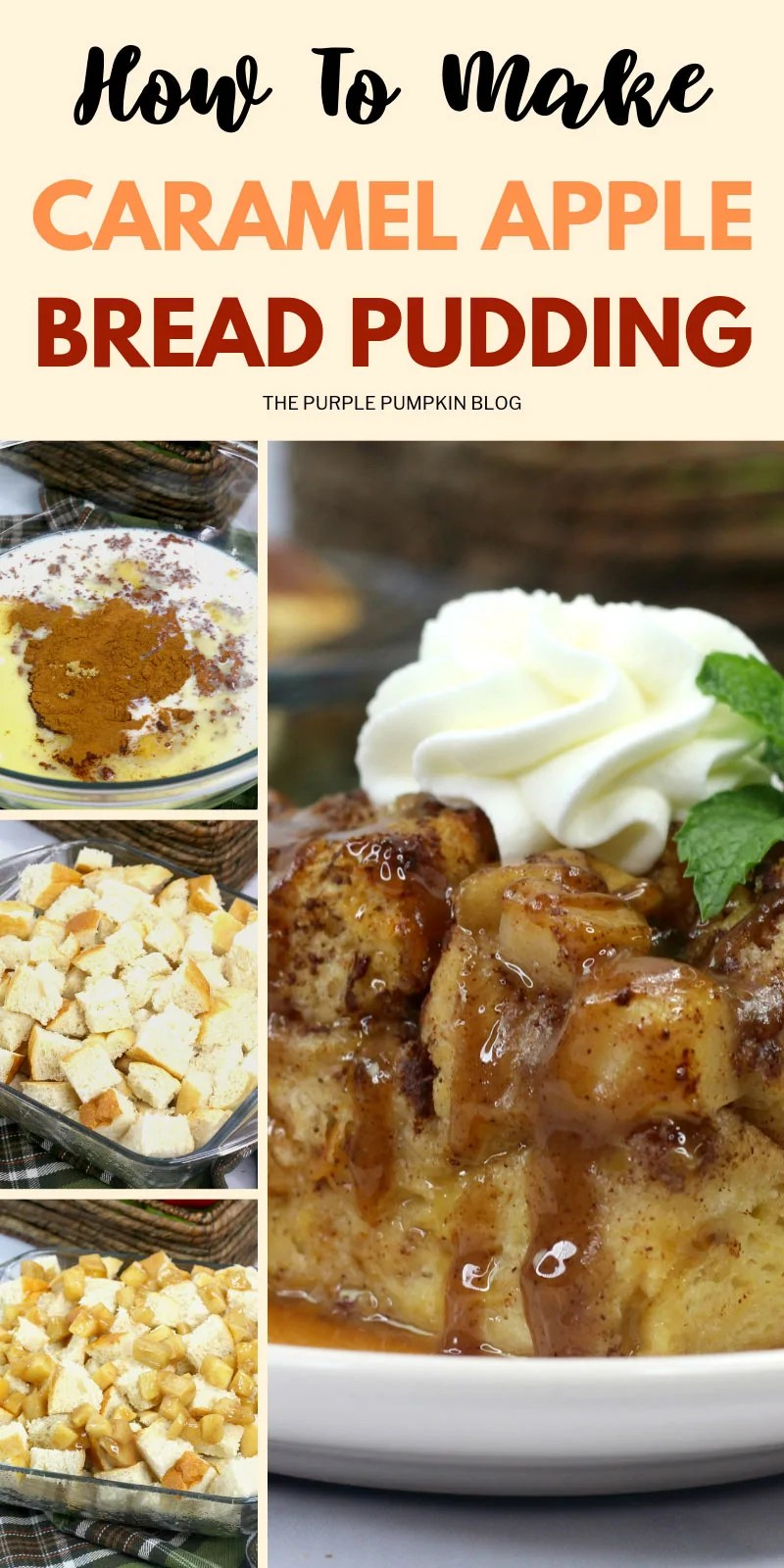 How to make caramel apple bread pudding