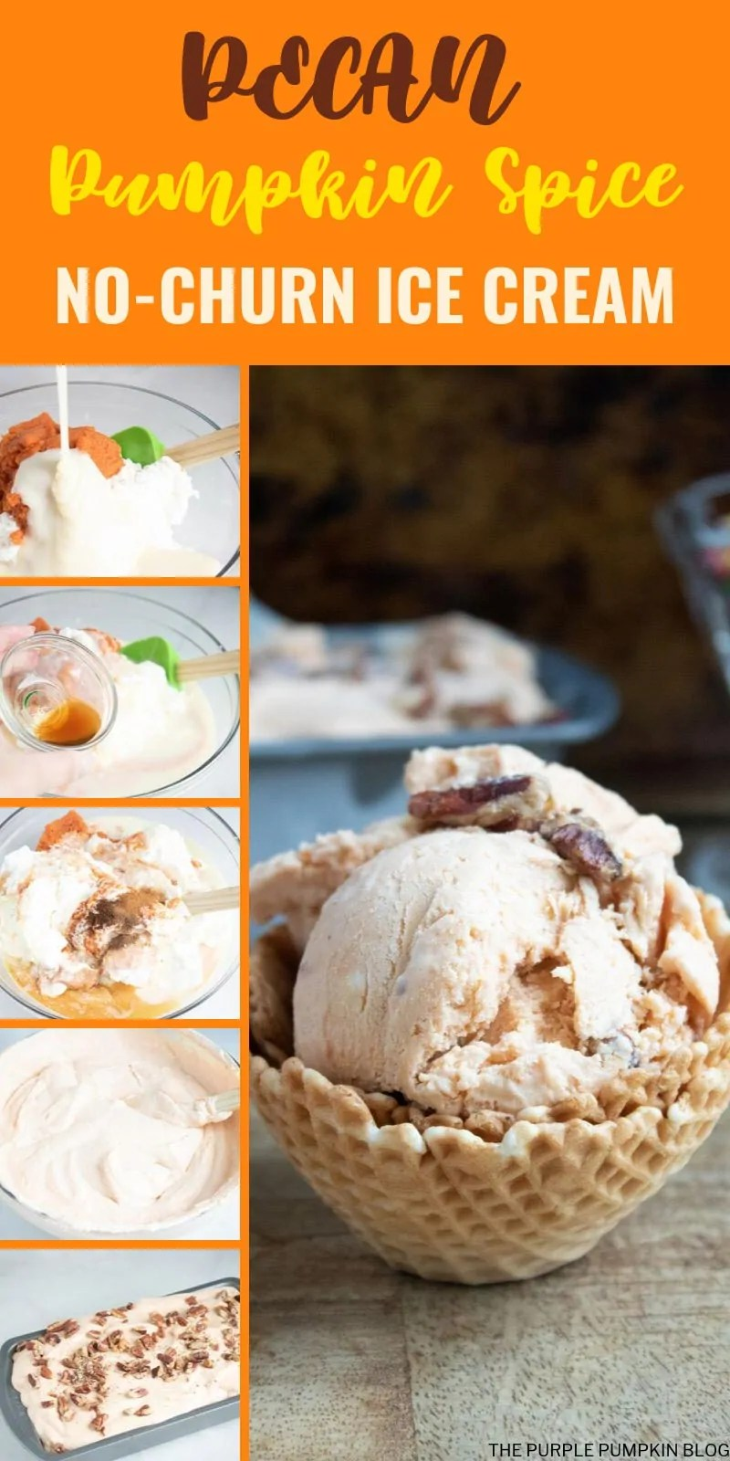 How to make Pecan Pumpkin Spice No-Churn Ice Cream