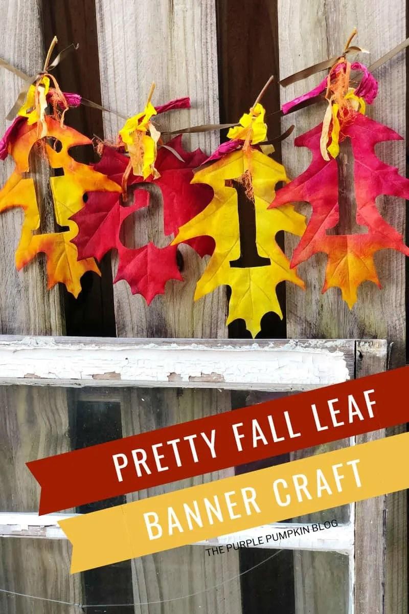 Pretty Fall Leaf Banner Craft