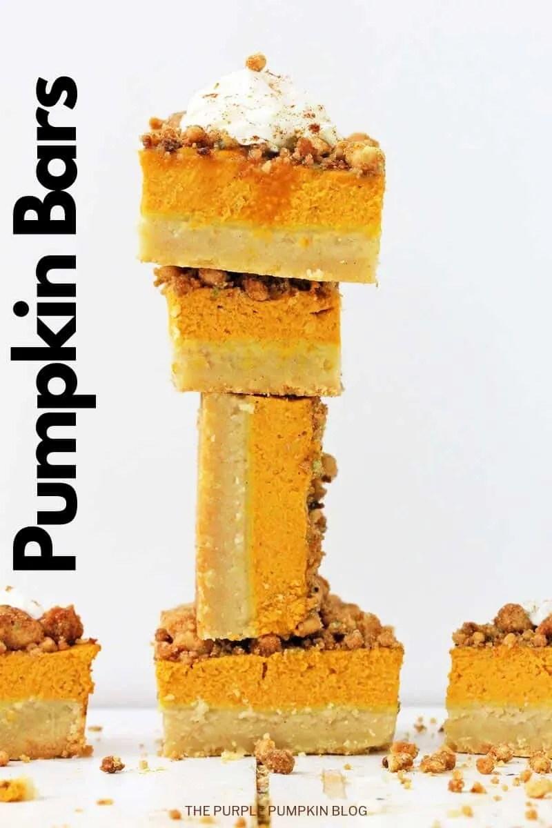 a stack of pumpkin bars