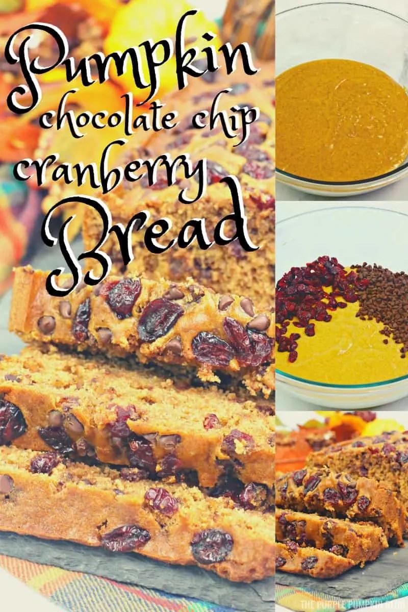 Pumpkin Chocolate Chip Cranberry Bread