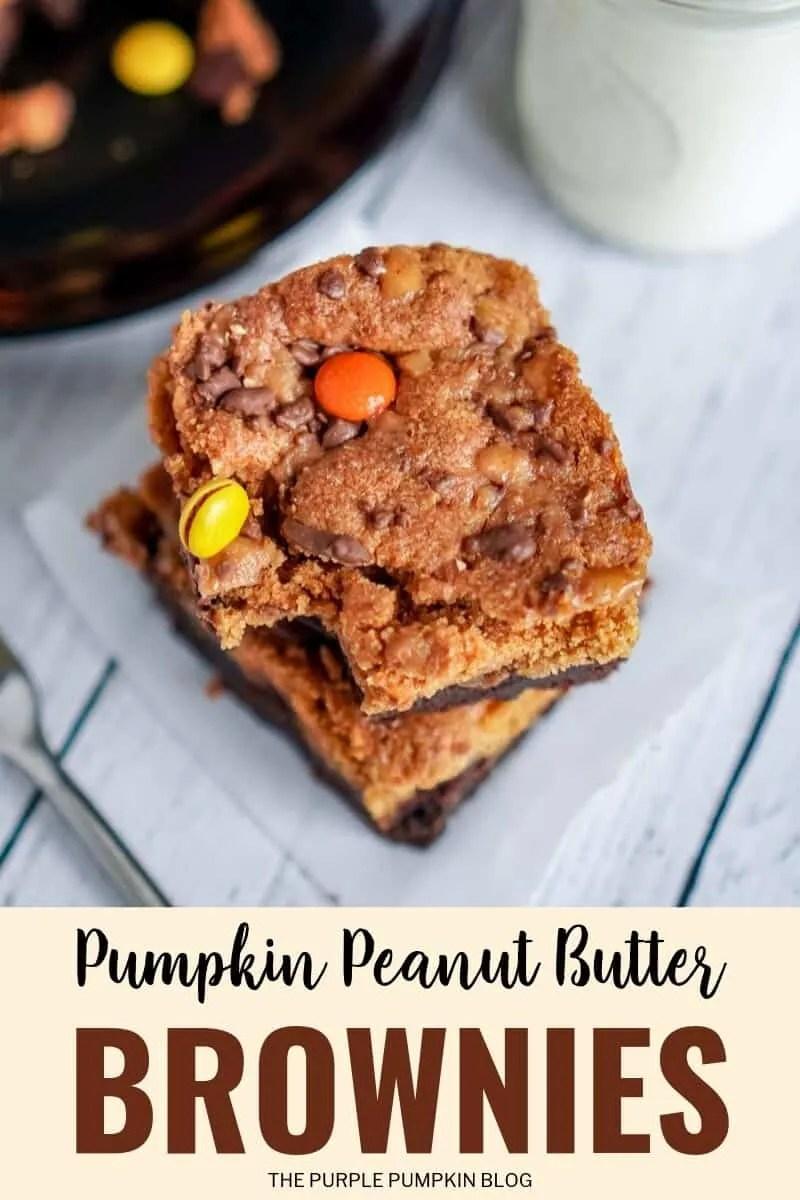 pumpkin peanut butter brownies