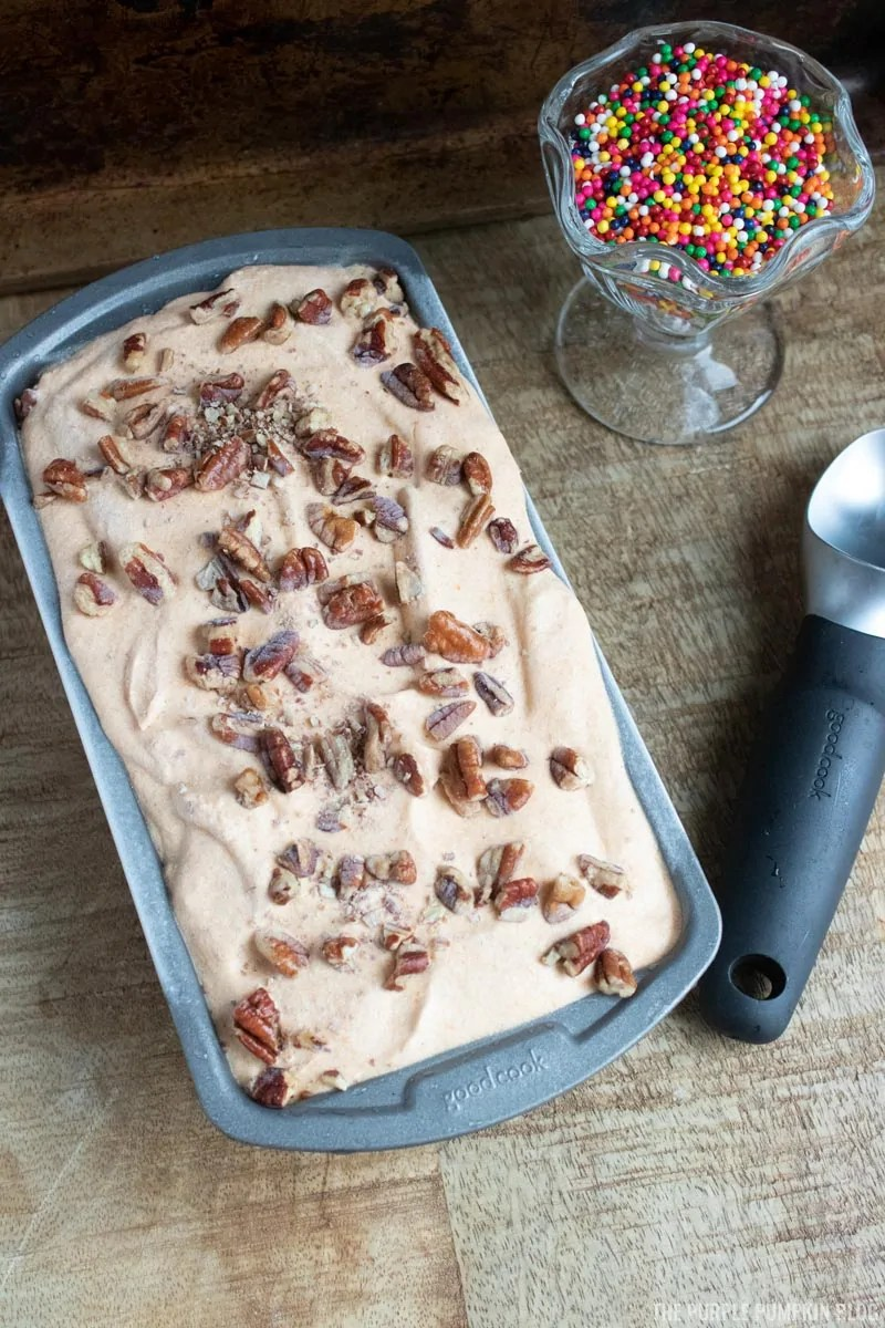 Ready Pumpkin Spice No-Churn Ice Cream