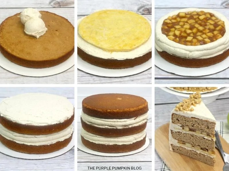 Recipe card for Apple Pie Layer Cake