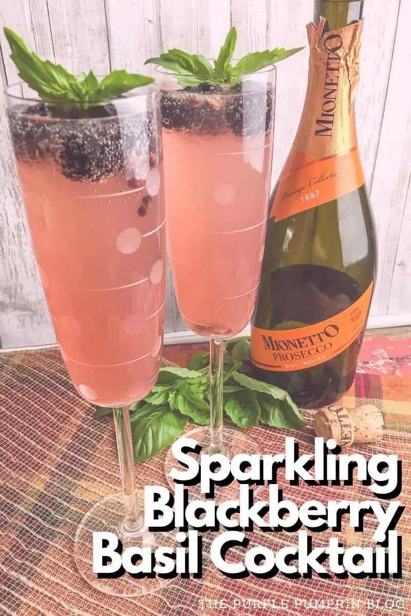 Sparkling Blackberry Basil Cocktail