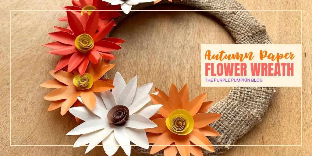 autumn paper flower wreath
