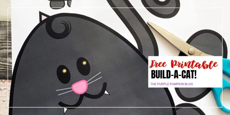 free printable build-a-cat