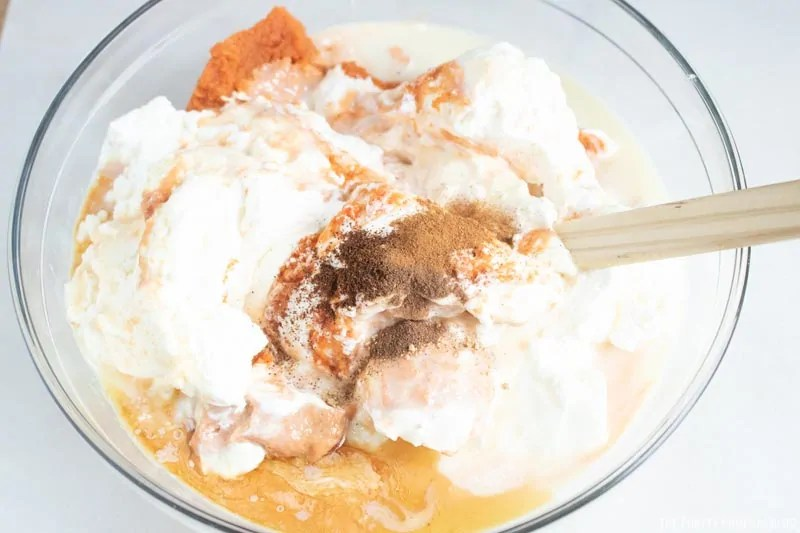 Vanilla and Spices added to ice cream mix