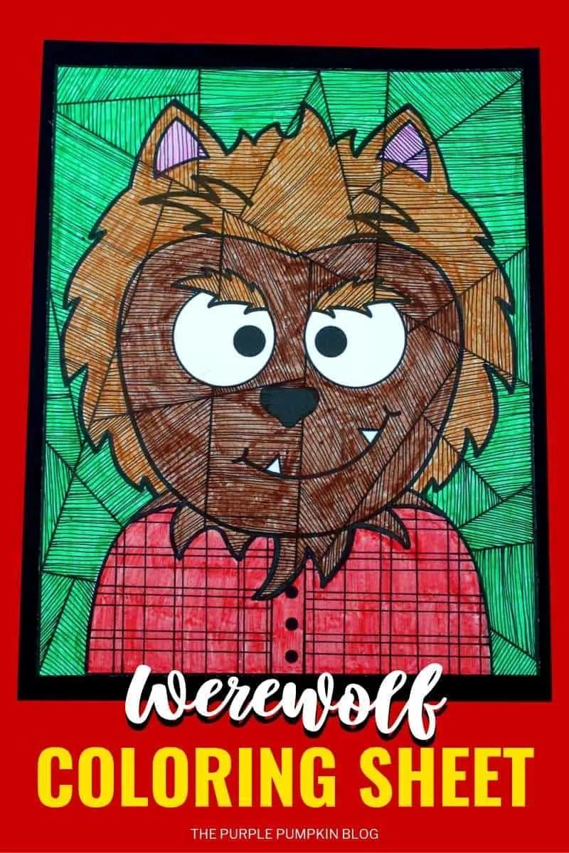 Free Printable Werewolf Coloring Sheet